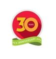 Thirty years anniversary logo 30 year birthday vector image