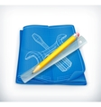 Technical drawing icon vector image vector image