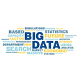 Big data concept in word tag cloud vector image vector image