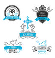 easter sale paschal discount icons set vector image