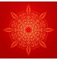 Vintage ethnic ornament mandala background vector image