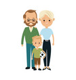 family parent with childrens image vector image