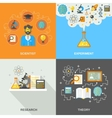 Science And Research Flat vector image