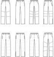 Down pants vector image