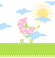 carriage for children vector image
