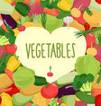 Fresh vegetables Heart in vegetables vector image
