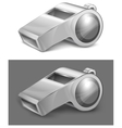 gray whistle vector image