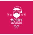 Merry Christmas card with Santa Claus on pink vector image