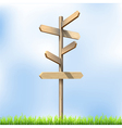 Direction road wooden signs vector image vector image