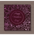 Happy mothers dat card on wooden background vector image vector image