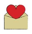 cartoon valentines day romantic mail heart vector image