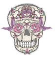 cute sugar skull vector image