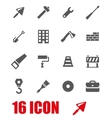 grey construction icon set vector image