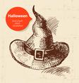 Hand drawn Halloween background vector image