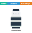 Icon of photo camera zoom lens vector image