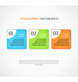 Numbered infographic options banners template vector image