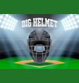 poster template of baseball vector image