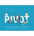 Pivot concept of business people vector image