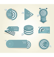 Blue set of paper labels with place for your own vector image