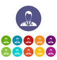 doctor set icons vector image