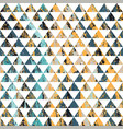 retro triangles grunge seamless pattern vector image