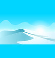 ice landscape mountain and ice vector image
