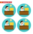 Office worker at the desk vector image