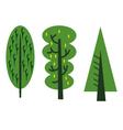 abstract tree cartoon vector image vector image