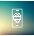 Mobile wifi thin line icon vector image