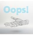 inscription - Oops vector image