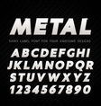 Metal Font on carbon background vector image