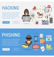 Cyber Crime Banners vector image vector image