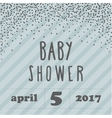 Baby shower invitation with confetti for boy style vector image