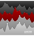 Dark grey and red graph design for workflow layout vector image
