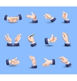 Hands gestures icons set flat vector image