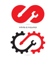 Infinite and Industrial logo vector image