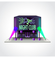 Night club building isolated vector image