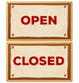 Open and closed vector image