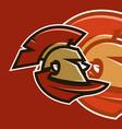 sports logo spartan warrior vector image