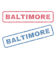 baltimore textile stamps vector image