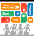 Travel and vacation shopping background vector image vector image