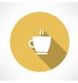 Coffee cup steam icon vector image vector image