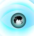 Globe eye vector image