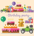 Holiday birthday party vector image