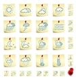 sticker icon set vector image vector image