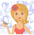 beautiful young woman vector image vector image