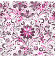 pink and brown seamless pattern vector image vector image
