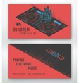 Business card for DJ vector image
