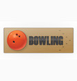 black ball on the alley for bowling game vector image