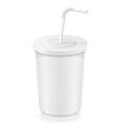 cup of soda water vector image